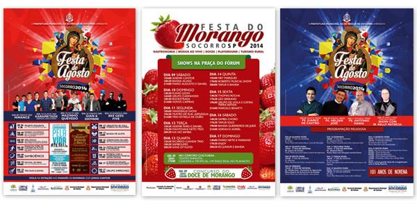 Programação Completa da Festa de Agosto e Festa do Morango 2014