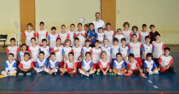 Campeonato de futsal organizado pelo Departamento de Esportes e Lazer para o Dia do Desafio.