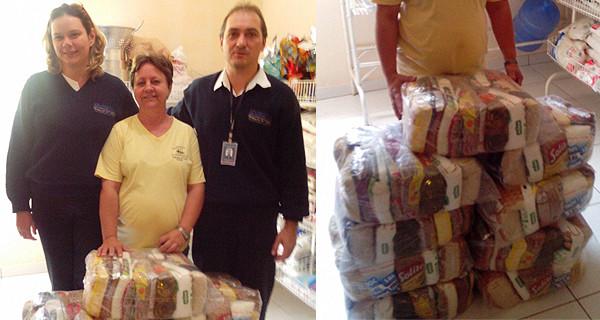 Equipe da Assistência Social da Prefeitura entrega cestas básicas ao Lar Dom Bosco