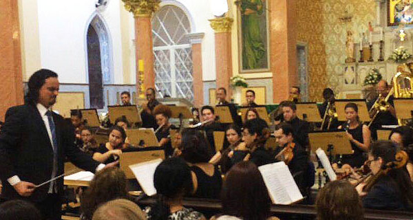 Orquestra Filarmônica SENAI SP fez bela apresentação na Igreja Matriz