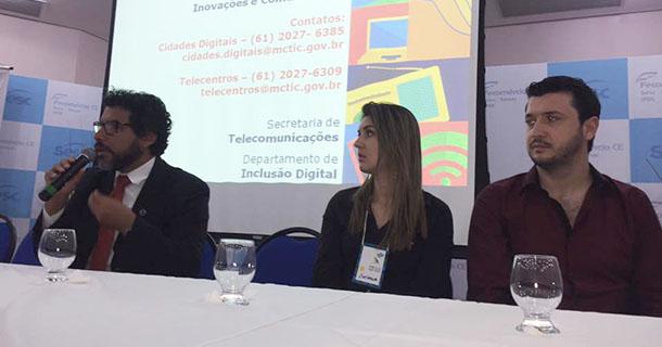 Socorro foi destaque no encontro nacional das Cidades Digitais em Fortaleza