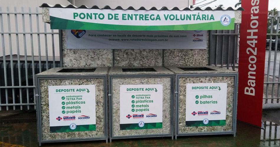 Prefeitura disponibiliza unidades para descarte de recicláveis, pilhas e baterias em parceria com Tetra Pak