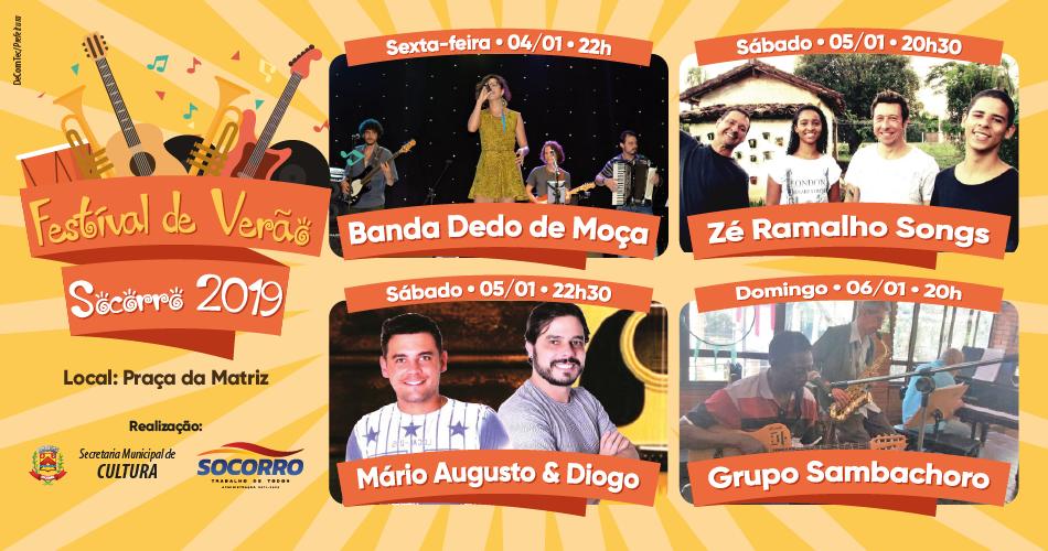 Festival de Verão 2019 agita primeiro final de semana do ano na Praça da Matriz