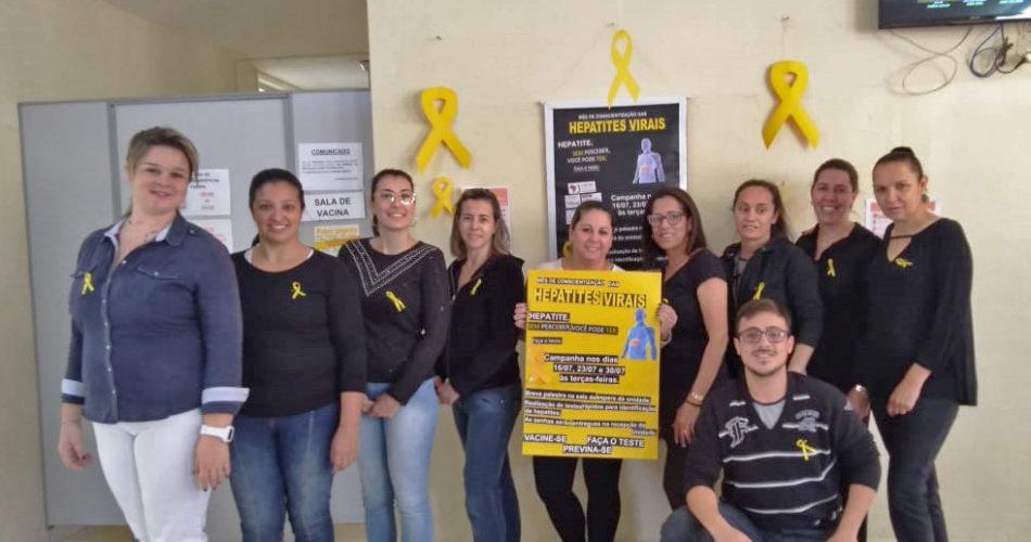 """Secretaria de Saúde realiza campanha """"Julho Amarelo"""" nos postos de saúde"""