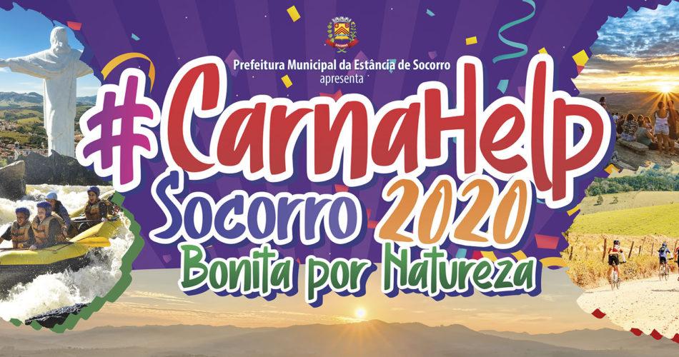 """""""Socorro: Bonita por Natureza"""" é o tema do #CarnaHelp 2020 – Confira a programação!"""