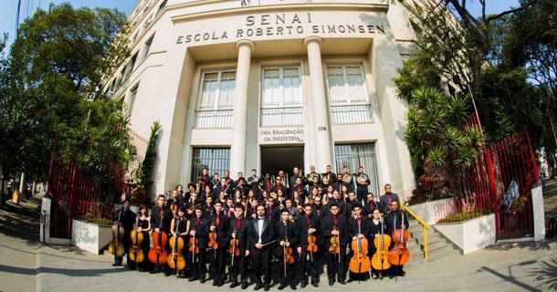 Composição da Orquestra Filarmônica do Senai SP